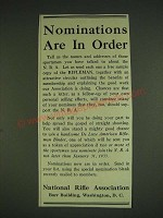 1932 National Rifle Association Ad - Nominations are in order