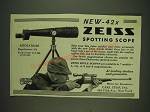 1932 Carl Zeiss Asiola Model 42X Spotting Scope Ad