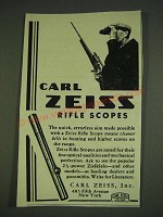 1932 Carl Zeiss Rifle Scopes Ad