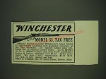 1932 Baker & Kimball Winchester Model 55 Rifle Ad