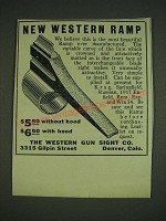 1932 Western Gun Sight Ramp Ad - New Western Ramp