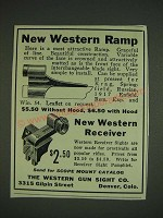 1932 Western Gun Sight Ramp and Receiver Ad - New Western Ramp