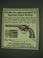 1932 W. Joseph O'Connor Ad - Iver Johnson Sealed 8 .22 Supershot Target Revolver