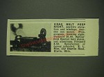1932 E.L. Rice Krag Bolt Peep Sight Ad