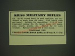 1932 Francis Bannerman Sons Krag Military Rifles Ad