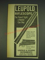1948 Leupold Riflescope Ad - The finest sight