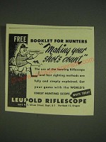 1948 Leupold Riflescope Ad - booklet for hunters making your shots count