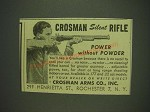 1948 Crosman Rifle Ad - Crosman Silent Rifle Power without Powder