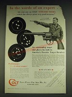 1933 Colt Officers' Model Target Revolver Ad - C.S. Landis