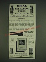1933 Lyman Idea Reloading Tools Ad - Single Bullet Mould and Bullets