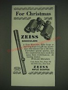 1933 Carl Zeiss Binoculars and Rifle Scopes Ad - For Christmas