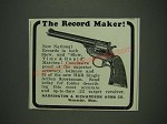 1933 Harrington & Richardson H&R Single Action Sportsman Ad - The Record Maker