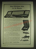1934 NRA National Rifle Association Ad - Hartmann Combination Rifle Case