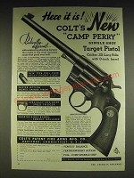 1934 Colt Camp Perry Single Shot Target Pistol Ad - Here it is!