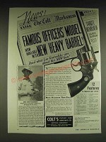 1934 Colt Officers' Model Target .38 Revolver Ad - Leo Gratcofsky