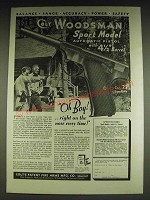 1934 Colt Woodsman Sport Model Pistol Ad - Balance Range Accuracy Power Safety