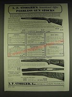 1934 A.F. Stoeger Peerless Gun Stocks Ad - Sensational Offer