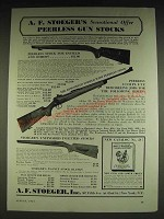 1934 A.F. Stoeger Peerless Gun Stocks Ad - A.F. Stoeger's Sensational Offer