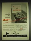 1934 Du Pont Sporting Powders Skeet Ad - Picture of a dog whose master misses