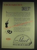 1934 Du Pont Sporting Powders Skeet Ad - Is this the toughest shot in Skeet?