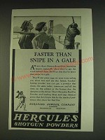 1934 Hercules Shotgun Powders Ad - Faster than snipe in a gale