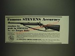 1934 Stevens No. 417 Target Rifle Ad - Famous Stevens Accuracy reaches its peak