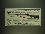 1934 Stevens Walnut Hill Target Rifle Ad - Winner Women's Individual