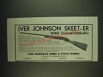 1934 Iver Johnson Skeet-Er Shotgun Ad - Wins Championships