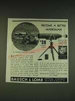 1934 Bausch & Lomb Spotting Scope Ad - R.E. Louden - Become a better marksman
