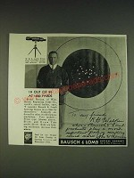 1934 Bausch & Lomb Prism Spotting Scope Ad - Major Hession