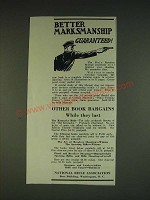 1934 NRA National Rifle Association Ad - Better marksmanship guaranteed