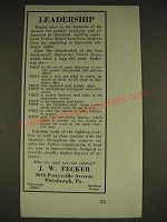 1934 J.W. Fecker scopes Ad