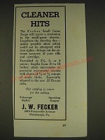 1934 J.W. Fecker scopes Ad - Cleaner Hits