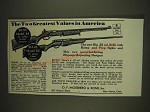 1934 Mossberg Model 44 .22 Rifle and 85 20 Gauge Shotgun Ad