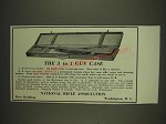 1934 NRA Hartmann Rifle Case Ad - The 3 in 1 Gun Gase