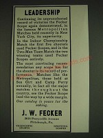 1934 J.W. Fecker scopes Ad - Leadership