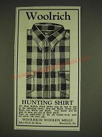 1934 Woolrich Hunting Shirt Ad