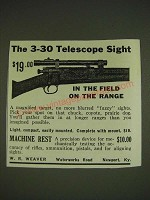 1934 Weaver 3-30 Scope Ad - The 3-30 Telescope Sight in the field on the range