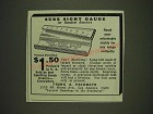 1934 Frank A. Pachmayr Sure Sight Gauge Ad - Sure Sight Gauge for Revolver