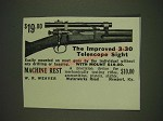 1934 Weaver 3-30 Scope Ad - The improved 3-30 Telescope Sight