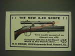 1934 Weaver 3-30 Scope Ad - The new 3-30 Scope