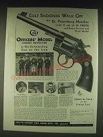 1935 Colt Officers' Target Revolver Ad - U.S. Immigration Border  Patrol Team