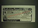 1935 A.F. Stoeger Gun Stocks Ad - Restocking Pamphlet free to N.R.A. members