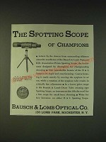 1935 Bausch & Lomb N.R.A. Model Prism Spotting Scope Ad