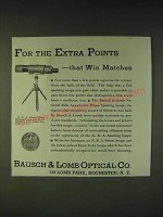 1935 Bausch & Lomb N.R.A. Model Prism Spotting Scope Ad - For the extra points