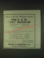 1935 Smith & Wesson .357 Magnum Revolver Ad - There is but one Magnum revolver