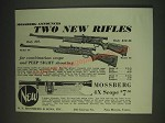 1935 Mossberg Model 46 and Model 35 Rifles Ad
