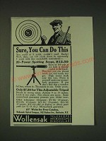 1935 Wollensak 20-power spotting scope Ad - Sure, you can do this