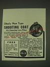 1935 10-X Shooting Coat Ad - Utterly new type shooting coat