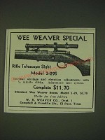 1935 Wee Weaver Special Model 3-29S Scope Ad